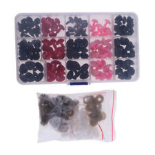 132pcs 11-16mm Safety Noses for Teddy Bear Animal Toy Dolls Making