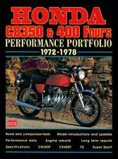 HONDA CB350 CB400 PORTFOLIO BOOK CB350F CB400F CB 350 400 MOTORCYCLE