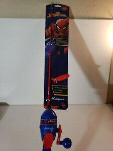 Shakespeare Spiderman Fishing Pole 2ft 6in All In One Kit With Line