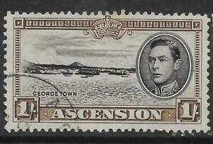 ASCENSION SG44a 1944 1/= BLACK & SEPIA p13 USED
