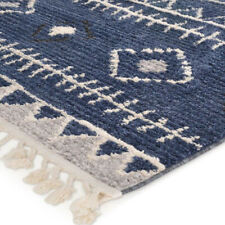 Azrou Bohemian Moroccan Tribal Navy Blue Rug Runner 80x300cm **FREE DELIVERY**