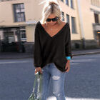 Womens Ladies Long Sleeve Chunky Knit Knitted Oversized Baggy Sweater Jumper Top