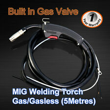 Gas/Gasless MIG Welder Welding Torch Gun Mid Steels, Aluminium, Stainless Steel
