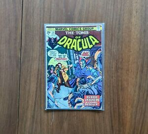 The Tomb of Dracula Issue # 25 Marvel Comics Horror Halloween Vampires