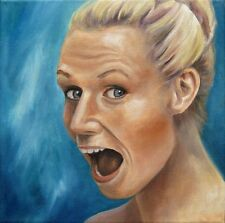 Jannys ART - Portrait Kunst Gemälde Modern Art Painting Ölbild Bilder