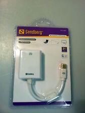 Sandberg Mini DisplayPort auf DVI Converter / Adapter, 508-46, Weiß NEU