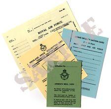 WW2 RAF Pilots Document Set - King Crown Version SET 1 - (Exact Copies)