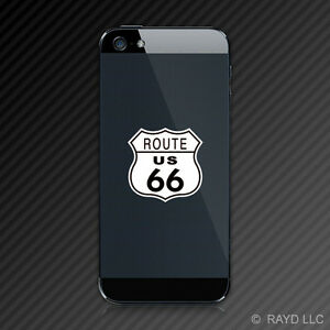 (2x) U.S. Route 66 Cell Phone Sticker Decal Mobile Self Adhesive Highway #1