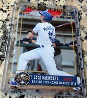 ZACH MCKINSTRY 2018 SP Rookie Card RC Los Angeles Dodgers Quakes $$$ HOT $$$