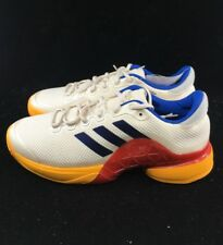 d92a9d94517 Adidas Barricade 2017 PW Pharrell Williams Scarlet Red Chalk White Blue  S81004