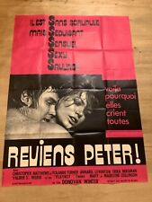 Affiche cinéma-120 x160»REVIENS PETER»1969-MATTHEWS- Yolande TURNER- EROTIQUE-