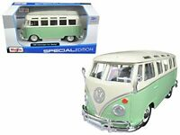 VW VAN BUS SAMBA 1:25 Scale Diecast Model Car Die Cast Models Cars Camper Green