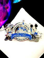 Fabulous Disney Wdw Mickey & Minnie Mouse The Year Of A Million Dreams Pin