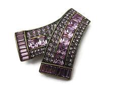 Heidi Daus Jewelry Rhinestone Brooch - Breast Cancer Awareness Ribbon, In Box