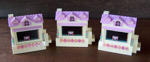 3 Vintage MATTEL YELLOW PIXEL CHIX HOUSE ELECTRONIC LCD INTERACTIVE VIRTUAL TOY