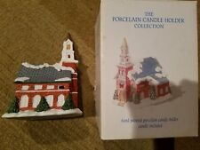 Christmas The Porcelain Candle Holder Collection Church Vintage 1994