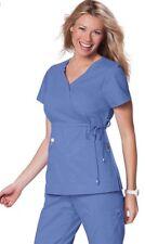 Koi Scrubs Top XS CEIL BLUE Solid Color Nurse Uniform Shirt Katelyn