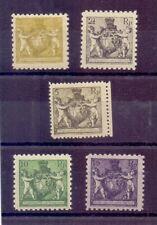 Liechtenstein 1921 - 5 Marken aus MiNr.45/52 A postfrisch- Michel 410,00 € (247)