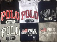 Polo Ralph Lauren Boys Short Sleeve Crew T-Shirt Tee Black White Blue Grey