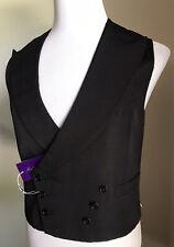 New $795 Ralph Lauren Purple Label Mens Vest Gilet Black 40R US ( 50R Eu ) Italy