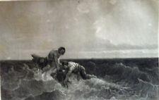 MARTHE la Novice naufrage Navire Bateau France Maritime GRAVURE XIXème