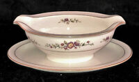 Noritake Ivory China * ASIAN SONG * GRAVY BOAT W/ATTACHED LINER PLATE*  #7151