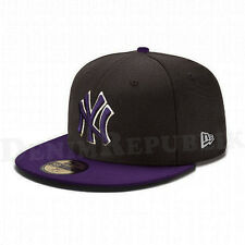 New Era 5950 NEW YORK YANKEES MLB Baseball Cap New Era Fitted Hat Purple NY
