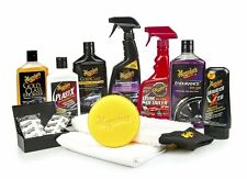 Meguiar's Complete Car Care Kit Professional Detail Auto Waxing Cleaning Kit NEW