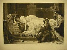 Grief Phaedra oule chagrin de Phèdre Gravure XIX th Alexandre CABANEL & Ch Billy