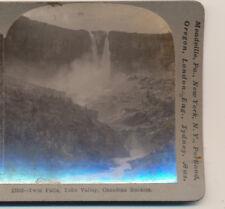 Twin Falls Yoho Valley Canaian Rockies BC Canada Keystone Stereoview c1900