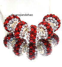 5p Gorgeous Czech Crystal Round Bead fit 925s European Charm Bracelet Chain k875