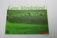 "Canon Lens Wonderland ""New Fd Lens Guide Book"" Manual+English+Original+N ice"