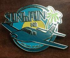 """SUN 'n FUN Fly-In Enamel 1.25"""" Lapel Pin - 34th Annual -2008"""