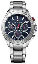 Tommy Hilfiger Mens Hudson Stainless Steel Blue Dial 1791228 Watch - 20% OFF!