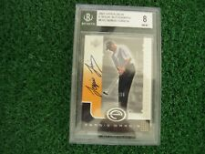 Sergio Garcia 2001 Upper Deck E-Volve Autographs Graded by BGS NM-MT