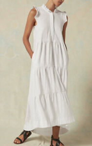Me + em Me And Em Frill Tiered Summer Dress White 16 New Rrp £115 Holiday Beach
