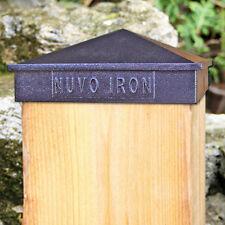 "Nuvo Iron PCP13 4-1/2"" x 4-1/2"" PYRAMID POST CAP BLACK CAPUCHON POTEAU NOIR"
