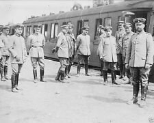 Prussian General Otto von Emmich and staff Galicia 1914 World War I 8x10 Photo