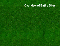 HO Scale Grass Model Train Scenery Sheets –5 Seamless 8.5x11 Coverstock Dk Green