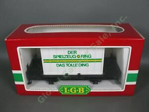 LGB G Scale 4003 SR Train Flat Car Der Spielzeug Ring Das Tolle Ding Container