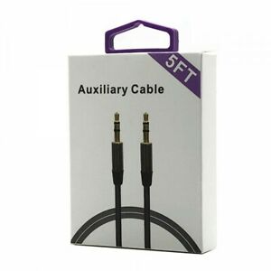 New (5 Feet) 3.5mm AUXILIARY CORD Male to Male Stereo Audio Cable for MP3 CAR PC