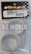 RC Car 1/10 DRIFT WHEELS RIMS Adjustable Offset  3mm-6mm-9mm -WHITE LIP -4 RINGS