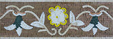 Exquisite Handmade Colorful Floral Border Art Decor Marble Mosaic BD709