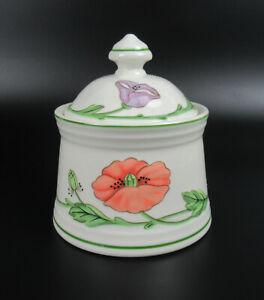 Villeroy & Boch Porzellan Zuckerdose Serie Amapola V&B Porcelain Sugar Pot