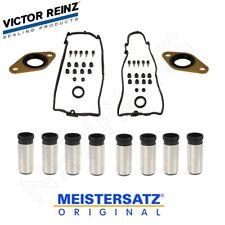 For Left & Right Valve Cover Gasket Set w/ 8 Spark Plug Tubes & 2 Seals OEM