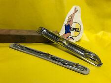 New + Original Opel Kadett B Rekord a + Licence Plate Illummination Chrome Solid