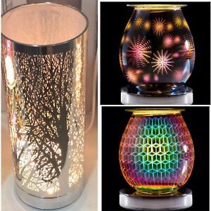 Aroma  3D Electric Touch Lamps Oil & Wax Melt Fragrance Geometric Burners Light