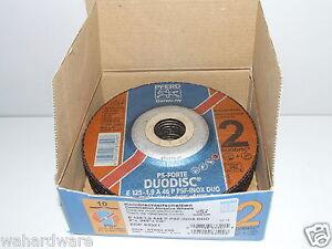 PFERD 62012630 125x1.9x22mm A46 INOX DUODISC Cutting Discs pk10