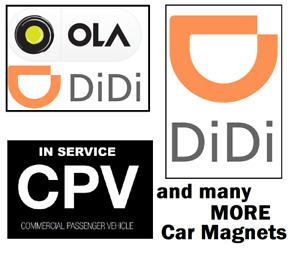 Premium MAGNET for Ola Didi CPV - Find Car easily - Sticker Sign