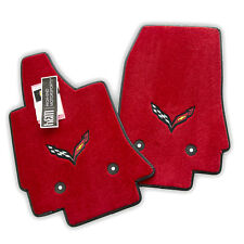 NEW Chevrolet Corvette C7 Floor Mats Adrenaline Red Carbon Black Flags IN STOCK